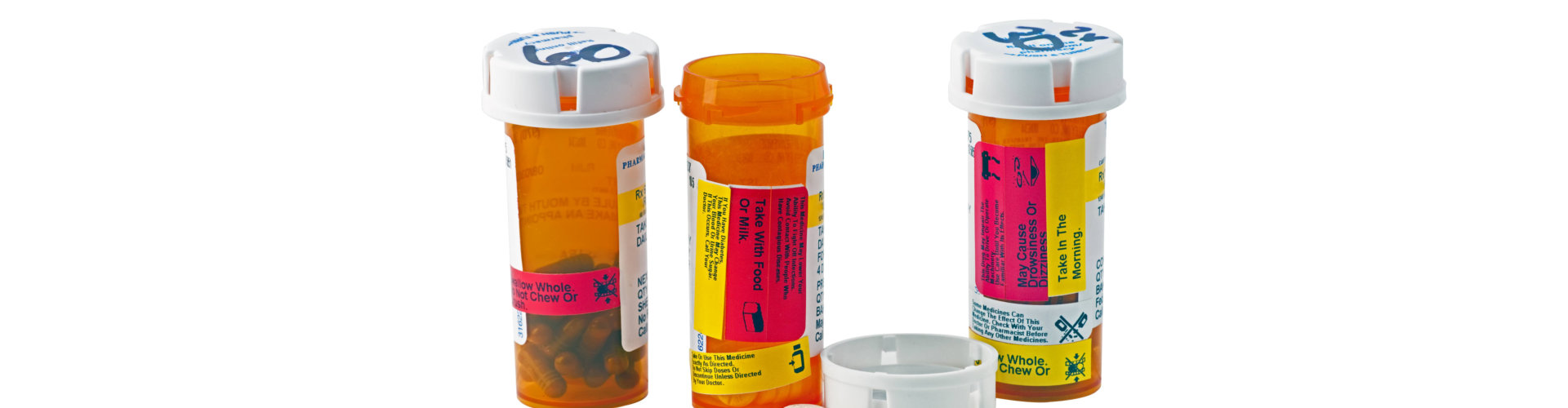 medication inside the container